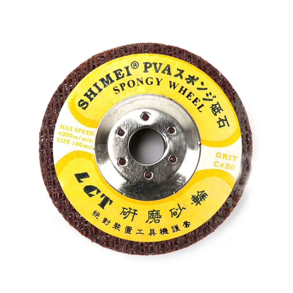 5Pcs 4''120# Marble Polishing Wheel Sanding Abrasive Buffing Disc with 5/8'' Bore for Polishing Marble Glass 100mm