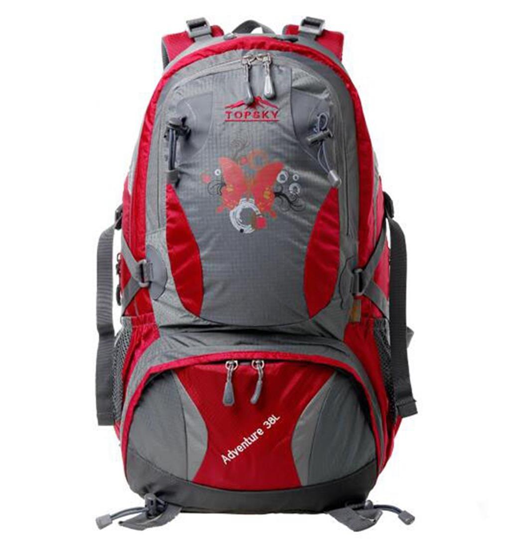 ハイキングバッグ アウトドアバックパック40 l登山バックパックバッグショルダーバッグの男性と女性の屋外のショルダーバッグ あうとどあばっくぱっく40 lとざん゛ばっくぱっく゛ばっぐ゛しょるだ゜ばっぐのだんせいとじょせいのおくがいのしょるだ゜ばっぐ ハイキングバックパック ( 色 : ローズレッド , サイズ さいず : 38L ) 38L ローズレッド B07BTFSBDH