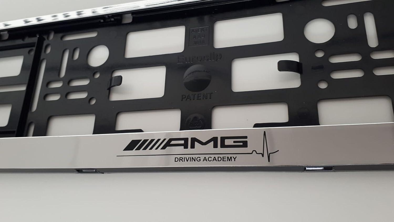 Porta targa cromato per Mercedes AMG, . W210, W211, W204, W205, W220, W221, W164, W207