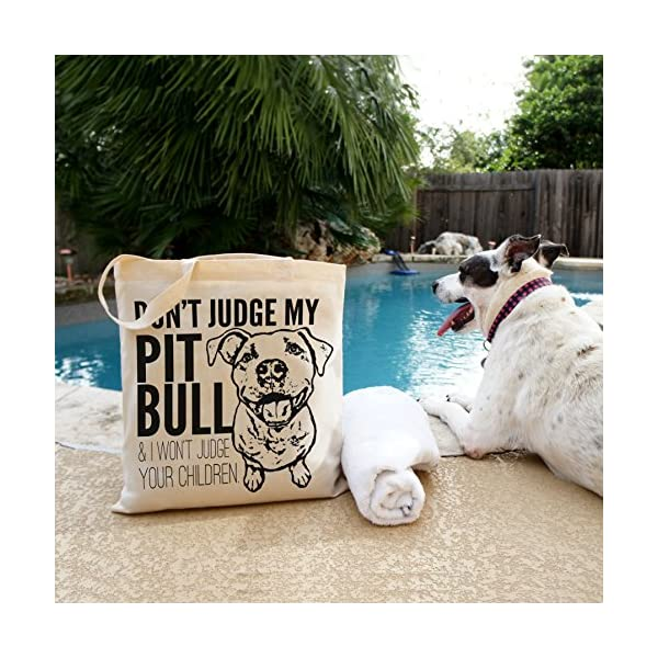 Don't Judge My Dog Tote Bag by Pet Studio Art 2