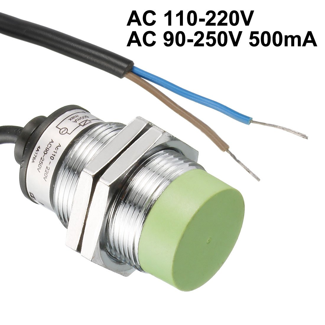uxcell 1-15mm Inductive Proximity Sensor Switch Detector NO AC 110-220V AC 90-250V 500mA 2-Wire PR30-15AO - - Amazon.com