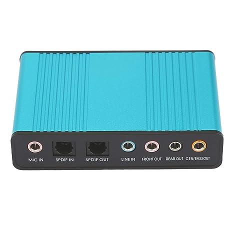 MXECO Canal Tarjeta de Sonido Profesional Externo USB 5.1 7.1 ...