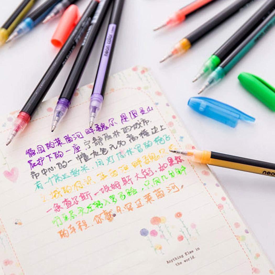 12 Colors Glitter Gel Pen Set for Adult Students Coloring Books Craft Doodling Youandmes 12 Colors//Set Glitter Gel Pens