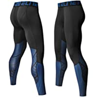 SEVENWELL Men's Sports Compression Cool Dry Pants Gym Workout Tights Running Leggings
