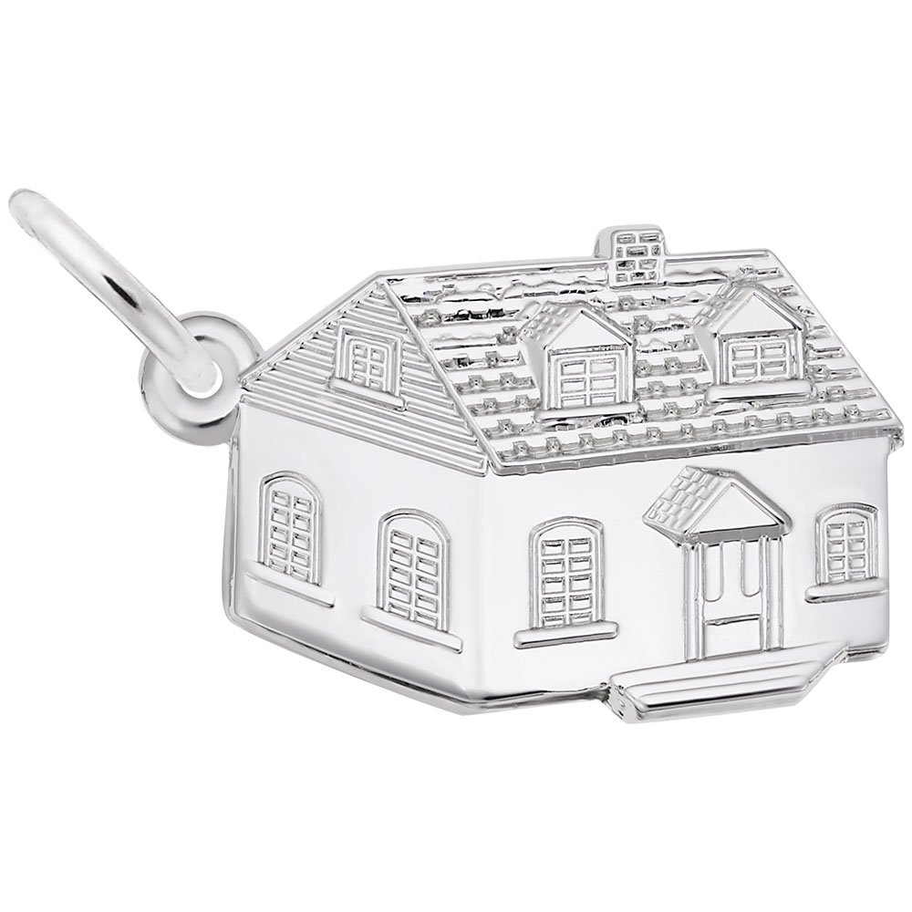 House Charm In Sterling Silver, Charms for Bracelets and Necklaces