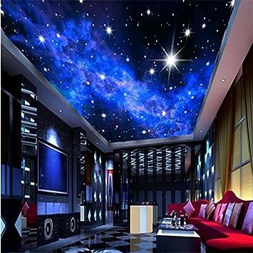 300cmX250cm Benutzerdefinierte Fototapete KTV 3D Sterne Hotels Decke Traum  Wohnzimmer Schlafzimmer Decke Helle Sterne Wandbild