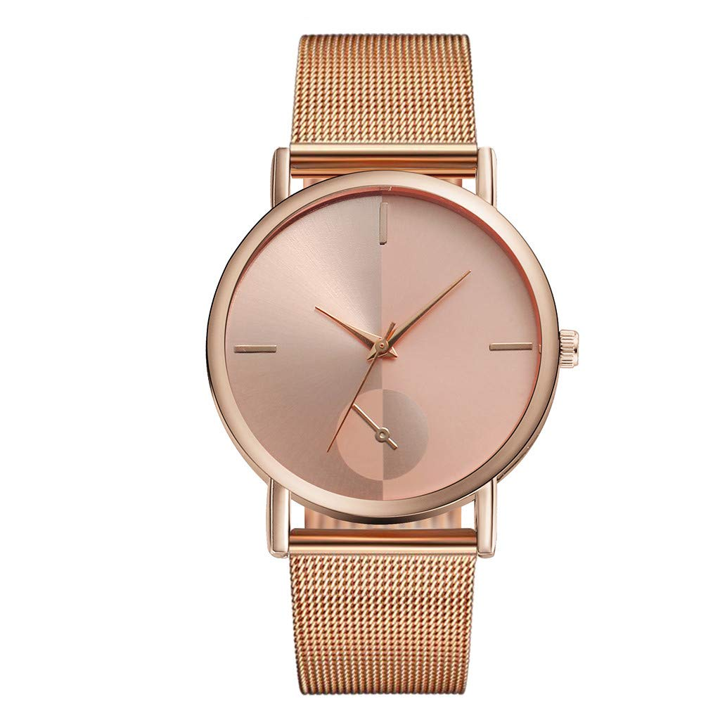 JDgoods MEIBO Luxury Starry Sky Quartz Watch Stainless Steel Magnetic Buckle Band Waterproof Watches Stylish & Elegant Men's and women Watches (Rose Gold)