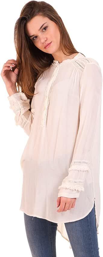Vila Camisa Larga ibicenca Clothes (S - Blanco): Amazon.es: Ropa y accesorios