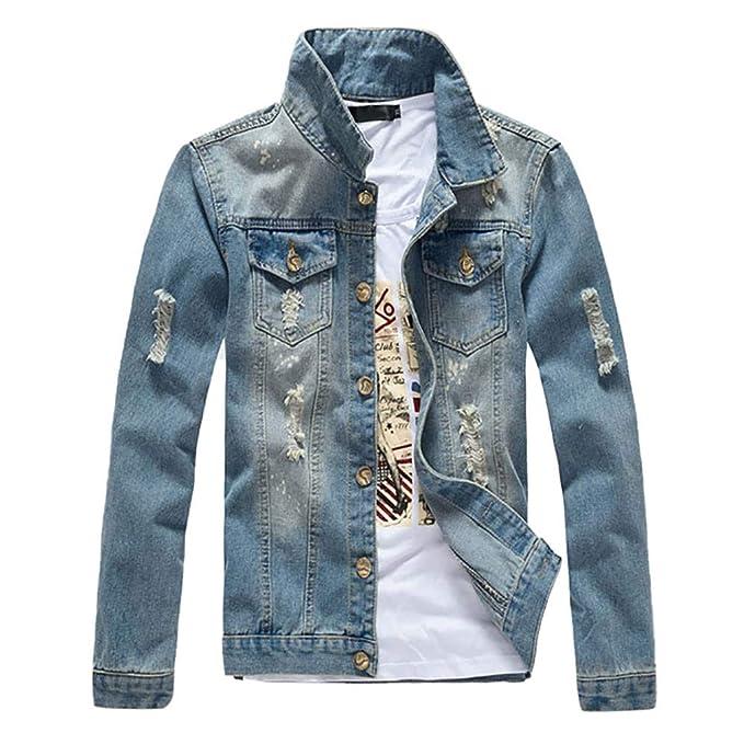 Cappotto Jeans Uomo per Cappotti da Uomo, Rcool Giacca con