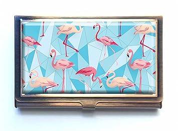 Flamingo Bird Arrire Plan Personnalis Mode Bronze Pour Cartes De Visite En Alliage D