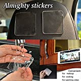 Reusable Washable Gripping Gel Pad, 5 Pcs Grip Sticky Anti Slip Pads for Kitchen Tool Phone Key Holder - 5 Pounds Supported (6 PC)