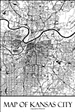Map of Kansas City: Kansas City Map Travel Vacation Journal, Diary, Booklet, Notebook 6 x 9 With 100 Lined Paper Pages (Missouri Travel & Tourism Guide Accessories) (Volume 1)