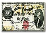 us 1000 bill - Alexander Hamilton Money Clock US Treasury Gold Coin Certificate Series 1882 1,000 Dollar Bill 8 x 12 inch clock American Financial System