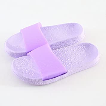 90d9dee4eb91dd Comfortable Bathroom with slippers Anti-skid soft bottom home bath shoes  Couple cool slippers Men and ...
