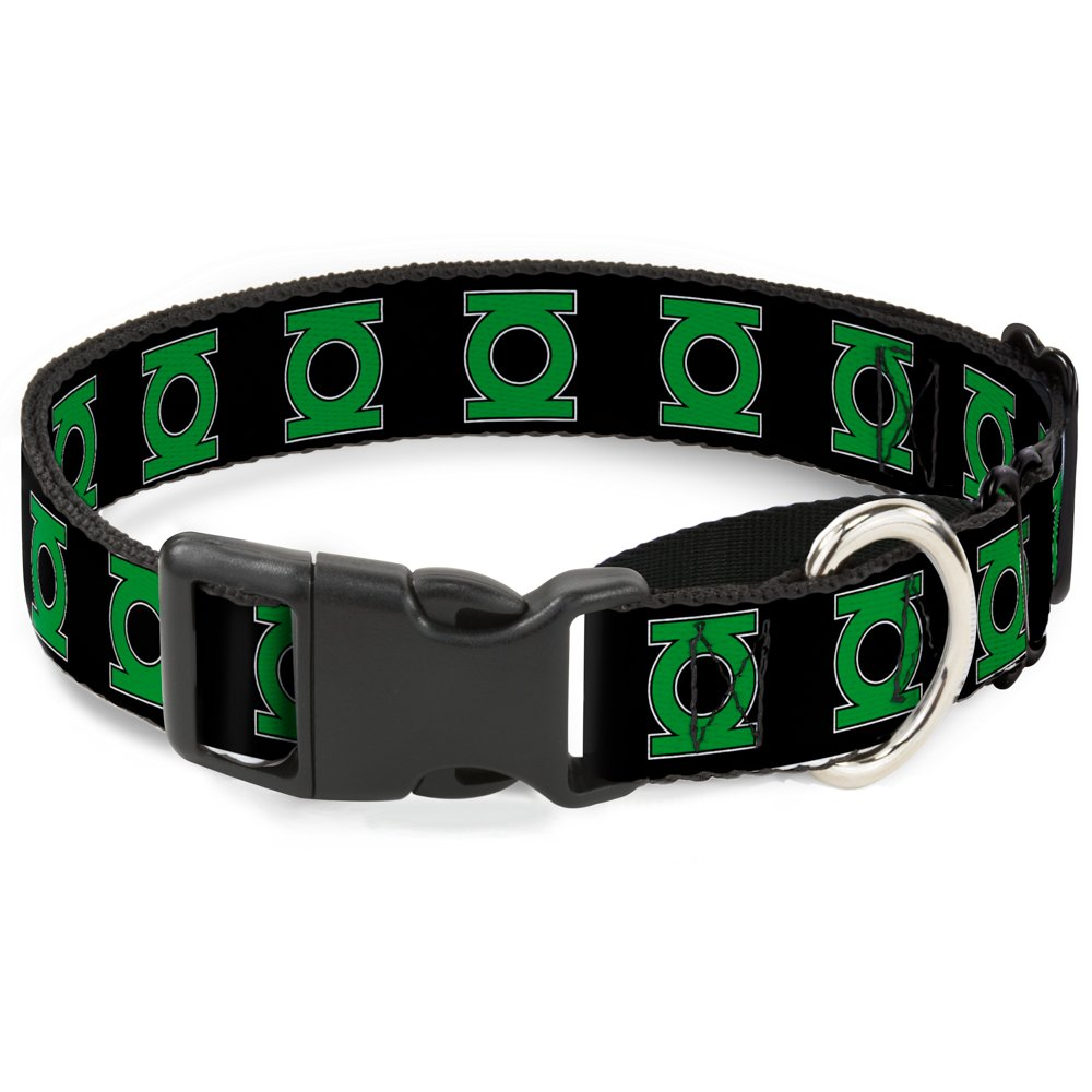 Buckle-Down MGC-WGL003-M Black Green Lantern Martingale Dog Collar, 1  Wide-Fits 11-17  Neck-Medium