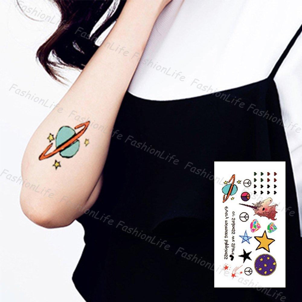 Arte Corporal Pegatinas Tatuaje removibles temporales Luna y ...