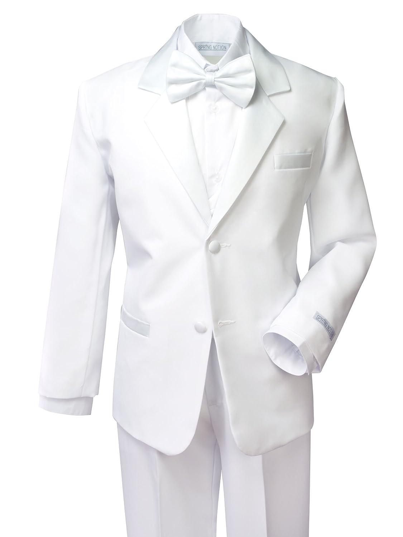 Spring Notion Boys' White Classic Fit Tuxedo Set, No Tail ERF202-SNS2-202.WT