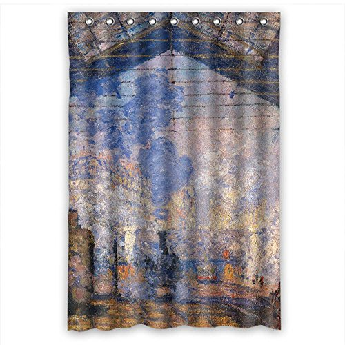 Slimmingpiggy Bath Curtains Of Claude Monet Art Painting Polyester Width X Height / 48 X 72 Inches / W H 120 By 180 Cm Best Fit For Birthday Relatives Artwork Gf. Dries Quickly. Fabric ()