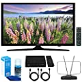 "Samsung UN49J5000 - Flat 49"" LED HD 5 Series Smart TV (2017) w/ TV Cut The Cord Bundle Includes, HD Digital TV Tuner, Durable HDTV & FM Antenna, 2x 6ft. HDMI Cable & Screen Cleaner for LED TVs"