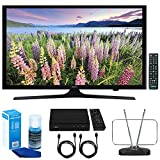 """Samsung UN49J5000 - Flat 49"""" LED HD 5 Series Smart TV (2017) w/ TV Cut The Cord Bundle Includes, HD Digital TV Tuner, Durable HDTV & FM Antenna, 2x 6ft. HDMI Cable & Screen Cleaner for LED TVs"""