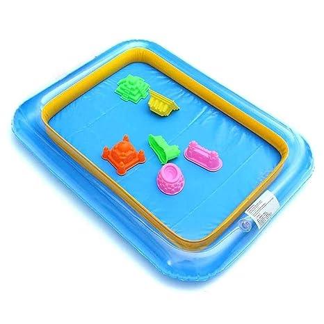 Caja de arena, interior para jugar, hinchable, grande, caja ...