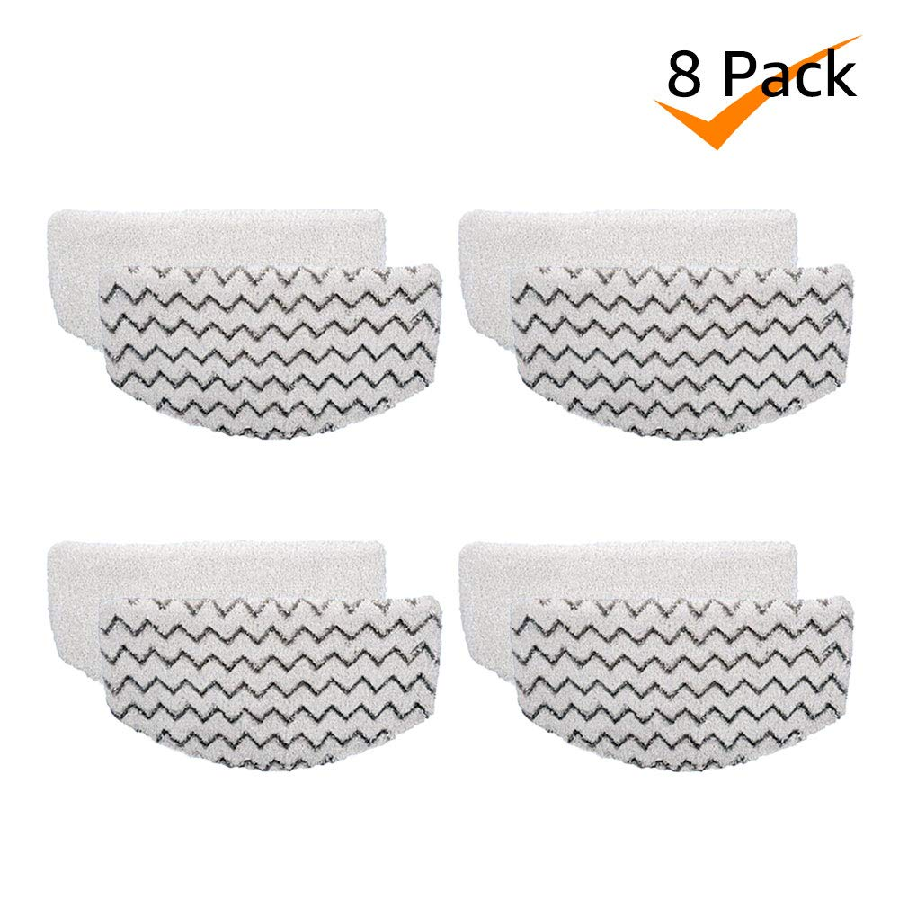 Bonus Life Steam Mop Pads Replacement for Bissell Powerfresh Steam Mop 1940, 8 Pack by Bonus Life