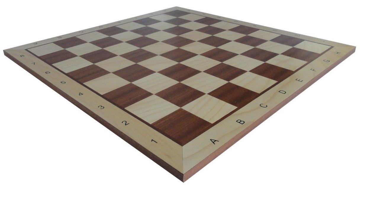 Schach Queen E130 - Tabla de ajedrez (Madera), Color marrón y Blanco