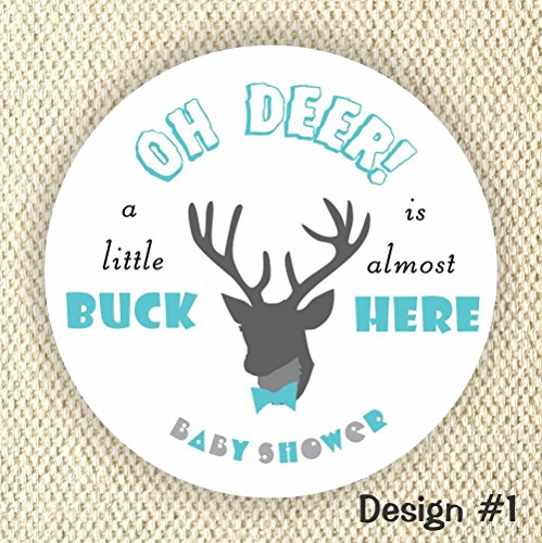 oh Deer! Baby Shower Stickers - Little Buck Stickers - It's a boy stickers- Thank you for Celebrating with me from Philly Art & Crafts