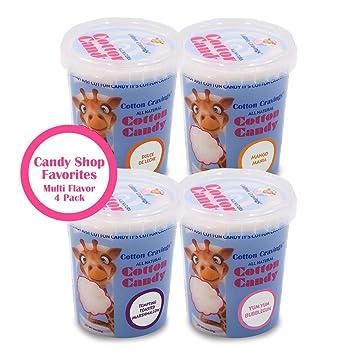 Cotton Cravings Candy Shop Favorites Grab & Go Cotton Candy (4 Pack - Bubblegum,