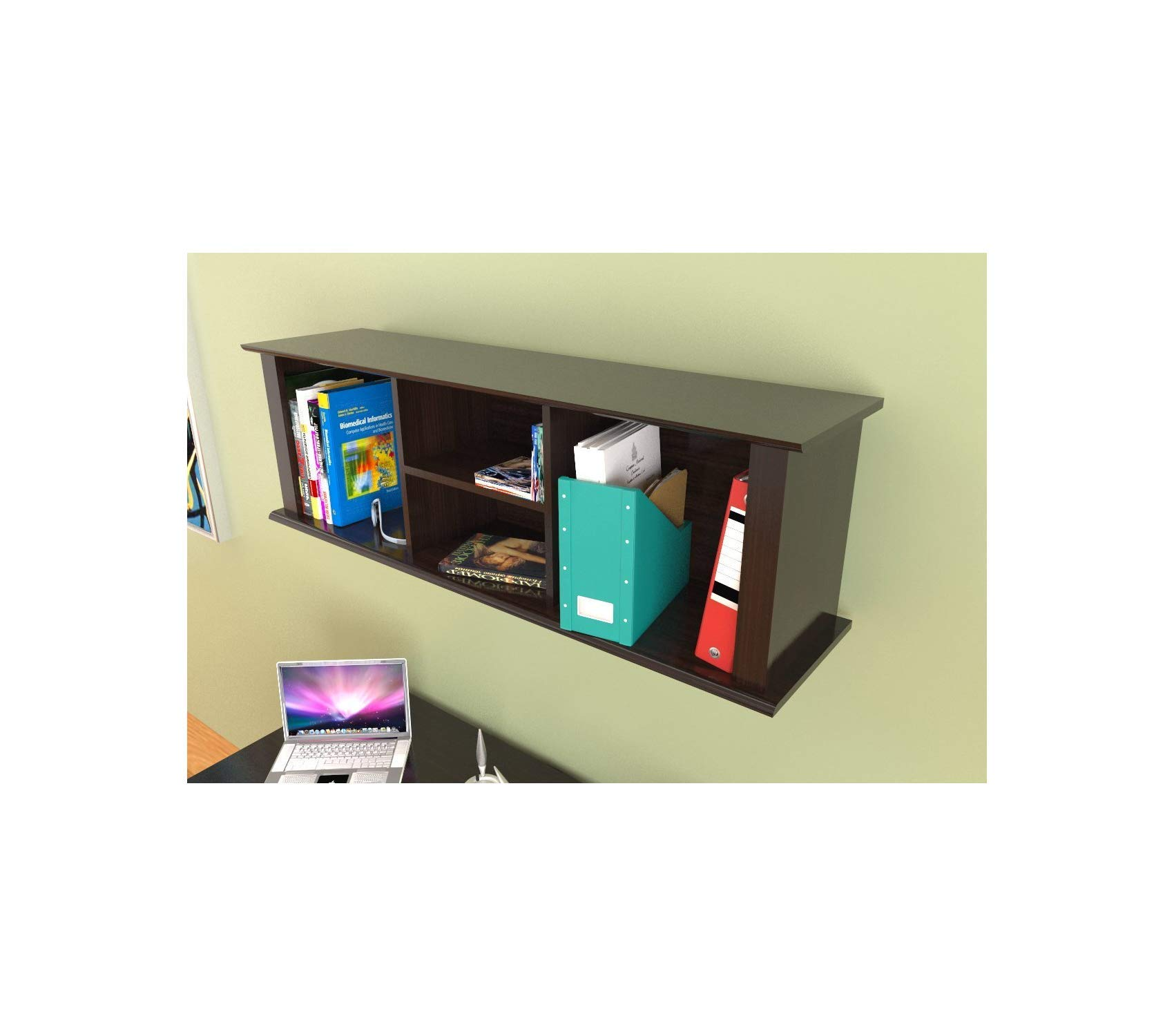 Wood & Style Office Home Furniture Premium Wall-Mounted Hutch by Wood & Style (Image #3)