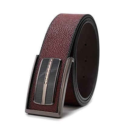 XUEXUE Mens Belt,Automatic Buckle Belt Classic Business Work Active Basic Leather,Comfortable Adjustable Casual Formal Belts,Breathable Cowboy Wear /& Work Clothes Uniform Easy
