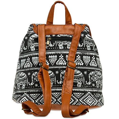 CASPAR Fashion - Bolso mochila  para mujer negro
