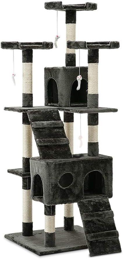 Árbol rascador para gatos, postes para rascar mascotas, 180 ...