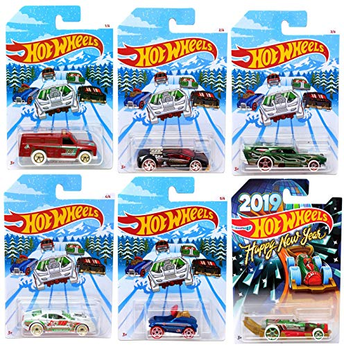 - Hot Wheels 2018 Holiday Christmas Hot Rods Die-Cast Car Set of 6 Pack