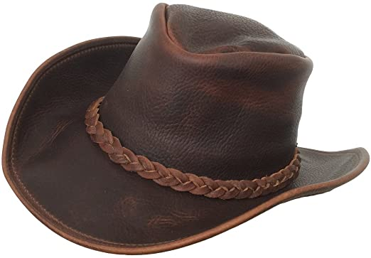 Headchange Made in USA Full Grain Leather Cowboy Western Outback Hat at  Amazon Men s Clothing store  f965163ab3a6