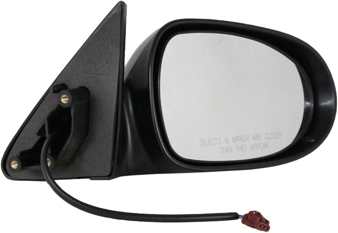Power Non-Folding Black Rear View Door Mirror Left Driver Side For 95-99 Sentra