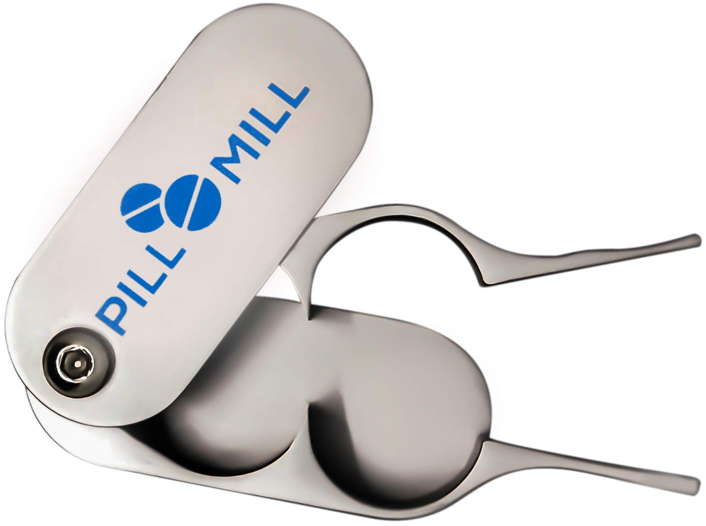 Pill Cutter Splitter by Pill Mill - Metal Blades That Will Never Dull - Grip Handle Helps to Cut Small or Large Pills with Ease - Light and Durable Tablet Divider - Perfect Medicine Slicer for Travel