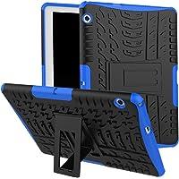 """Huawei MediaPad T3de 10funda, Huawei MediaPad T3de 10carcasa híbrida, de doble capa a prueba de golpes híbrido Rugged Case Carcasa rígida con función atril para 9.6"""" Huawei MediaPad T3de 10, Azul"""