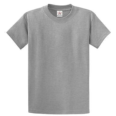 000b0b8abf1 Star and Stripes Plain Heather Grey T Shirt 100% Rich Soft Organic Cotton Heather  Grey T Shirt  Amazon.co.uk  Clothing