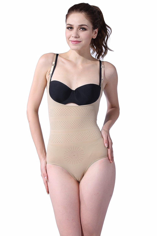Franato Women Shapewear Tank Bodysuit Body Briefer Shaper Leotard Firm Control