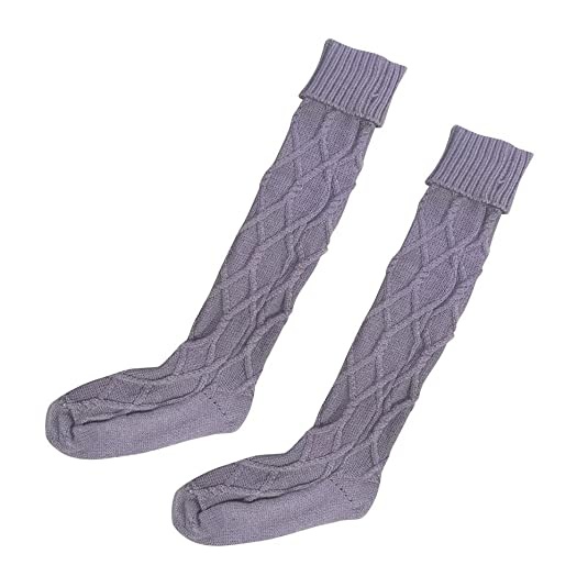 Women's Winter Stockings Egmy Women Cable Knitted Long Boot Socks Over Knee Thigh High Stocking