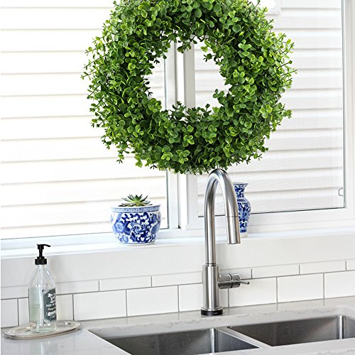 Gtidea 16 17 Quot Artificial Eucalyptus Wreath Spring Front Door Wreath Greenery Garland Home Office Wall Wedding Decor Wedding Wreaths It S