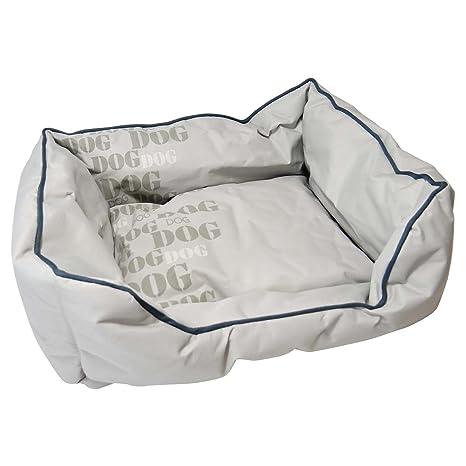 Cama para perros cómoda en aspecto de nailon, color gris claro – talla S,