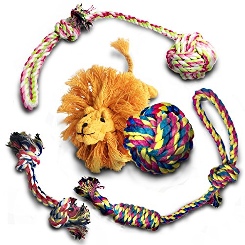 5 Sets Dog Rope Toys, Best for Interaction, Good for Dog's Teeth