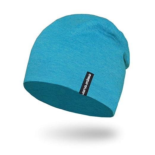 0eb2ccce80a309 Empirelion Slouch Beanies Knit Hat Thin Running Lightweight Skull Cap for  Men Women (Blue Melange
