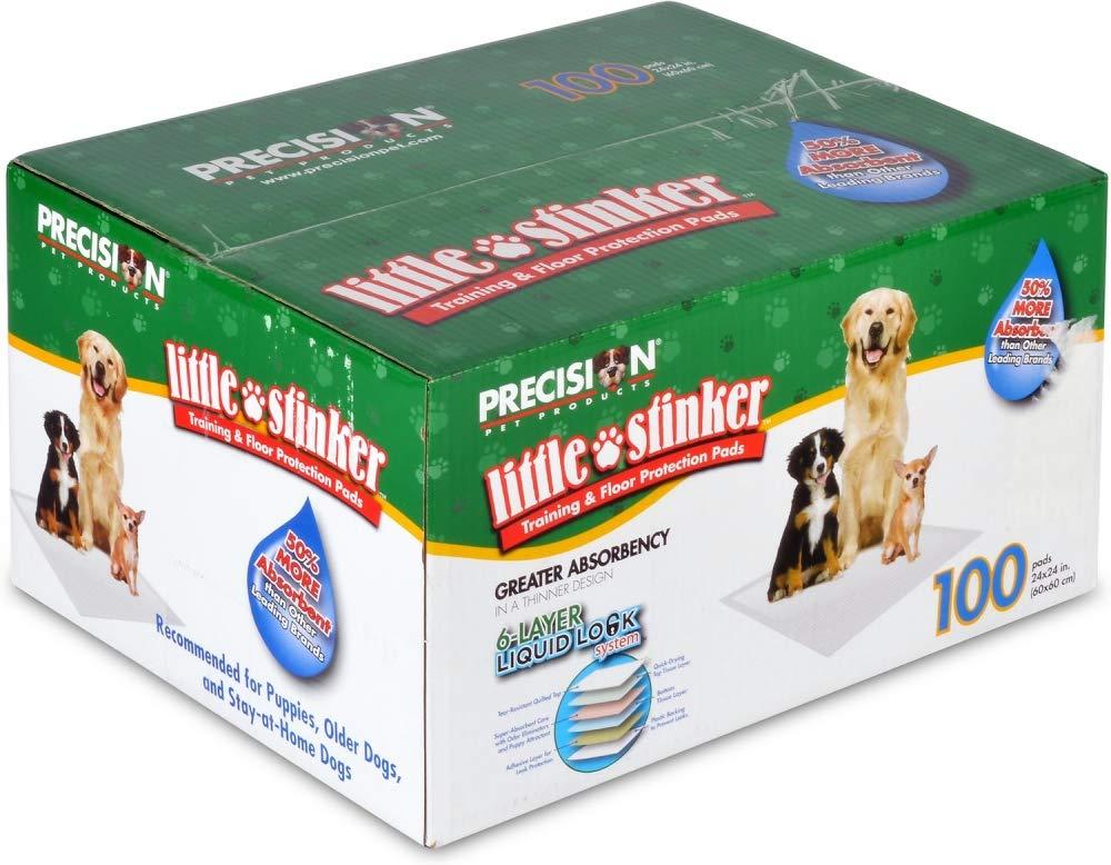 100-Pack Precision Pet Little Stinker Housebreaking Pads 100 Pack
