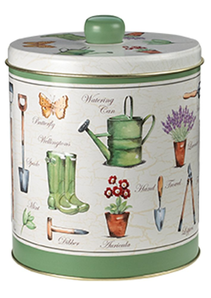 Grandma Wilds Embossed Garden Round Biscuit Tin All Butter Shortbread 300g