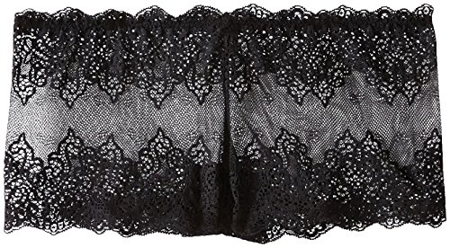 Only Hearts Women's So Fine Lace Hipster, Black, Medium