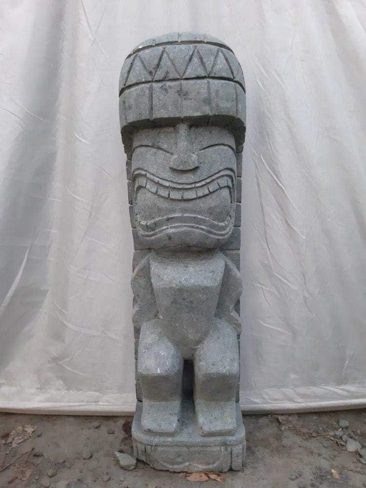 Wanda collection Tiki de Oceanía Estatua de Piedra volcánica para jardín 1 m: Amazon.es: Jardín