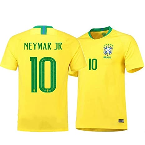 9e7558d20 Image Unavailable. Image not available for. Color  Brazil Neymar Jr  10 Brazil  National Team Soccer Jersey Men s ...